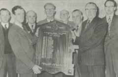 Presentation of Past Chairmen's Members Board 1960.