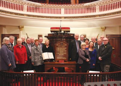 Dedication of the war memorial honours board