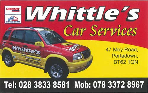 Whittle's Car Services - 028 3833 8561 / 078 3372 8967